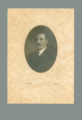 Black and white mounted photograph of Charles Donald.
