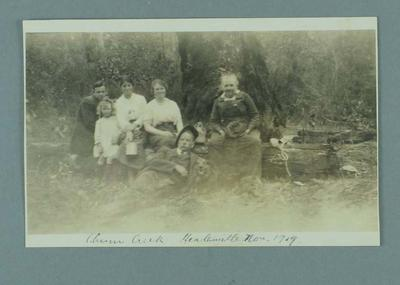 Photograph of a family at Chum Creek Healesville, Nov 1919