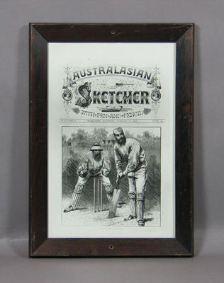 """Copy of """"AUSTRALASIAN/ SKETCHER/ WITH PEN AND PENCIL"""" magazine cover,  January 24 1874"""