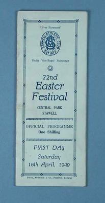 Programme, Stawell Athletic Club Easter Festival 1949