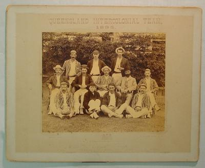 Mounted photograph, Queensland Intercolonial Team, 1895