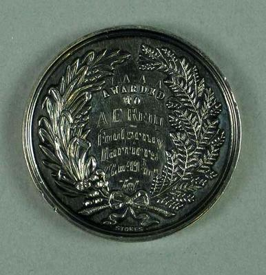 Medal - 1st Place, 3 Miles Walk Championship of Victoria 1938