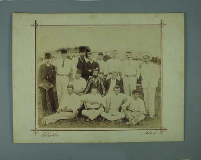 Team photograph: Intercolonial match - Victoria v Tasmania, Hobart January 1890