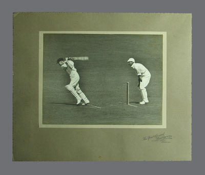 Photograph taken during Public Schools v Australia cricket match at Lords, 1926