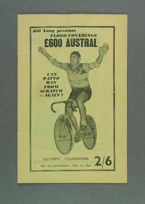 Programme for Austral Wheelrace, 1964