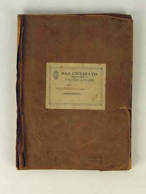 Scrapbook featuring newspaper clippings relating to cyclist Ernie Milliken dated 1935