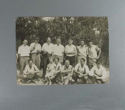 Group portrait of a cricket team, c1935; Photography; M8057