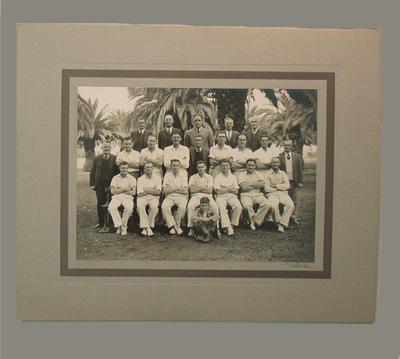 Group portrait of a cricket team, c1942; Photography; M8058