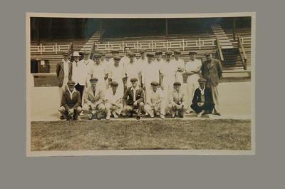 Group portrait of VJCA team & officials in Tasmania, c1937-38; Photography; M8060