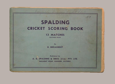 Fairfield Diggers Cricket Club scorebook, season 1947-48; Documents and books; M8068