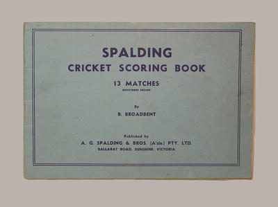 Fairfield Diggers Cricket Club scorebook, season 1950-51; Documents and books; M8070