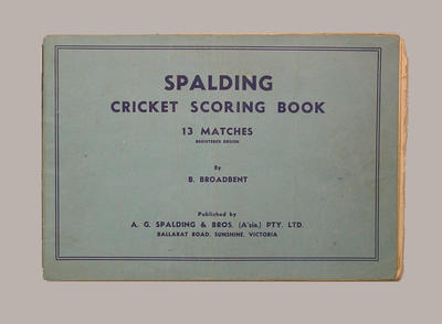 Fairfield Diggers Cricket Club scorebook, season 1949-50; Documents and books; M8071