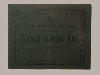 Cricket scorebook for various clubs, seasons 1927-29