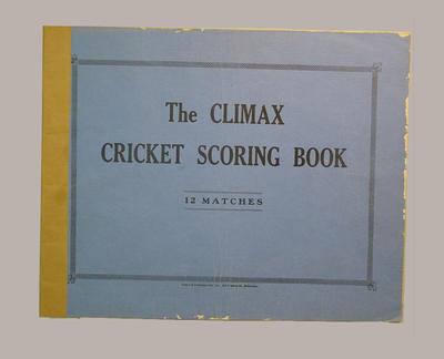Presco Cricket Club scorebook, season 1938-39