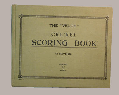 Presco Cricket Club scorebook, season 1939-40