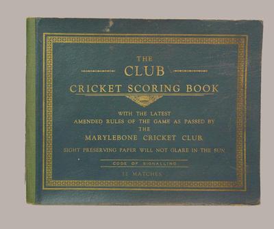 Presco Cricket Club scorebook, season 1940-41