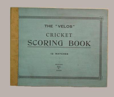 Presco Cricket Club scorebook, season 1941-42