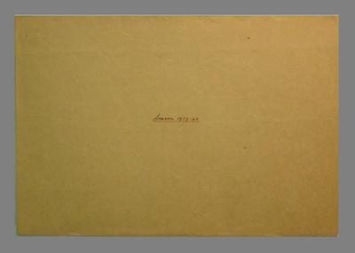 Envelope for Presco Cricket Club score sheets, season 1939-40; Documents and books; M8084.2