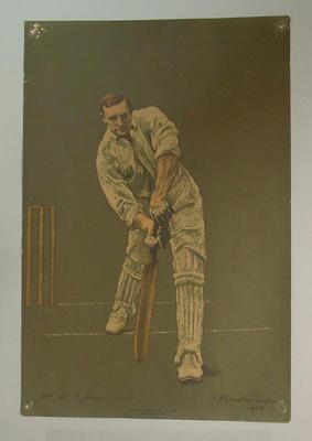 Lithograph depicting Arthur Jones, c1905