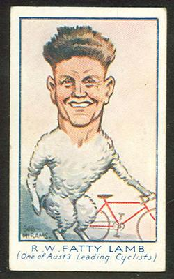 1933 Carreras (Turf) Personality Series Fatty Lamb trade card