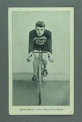 Trade card featuring Jean Bidot, c1930s