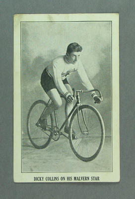 Trade card featuring Dicky Collins, c1930s