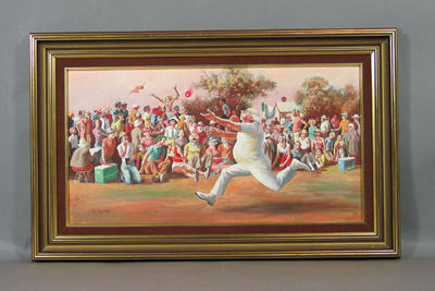 """Oil painting, """"The Catch"""""""