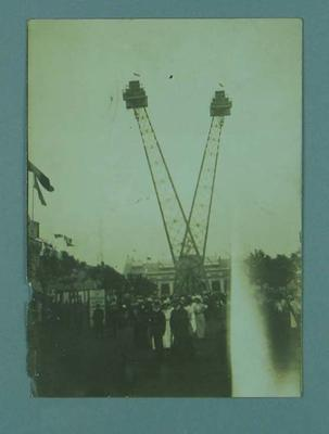 Photograph of a crowd at a carnival