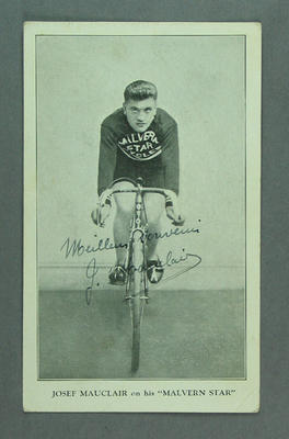 Trade card featuring Josef Mauclair, c1930s