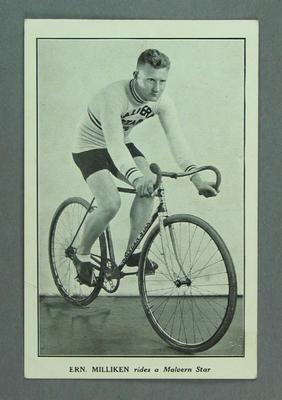 Trade card featuring Ern Milliken, c1930s