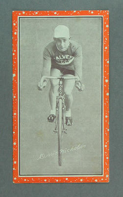 Trade card featuring Ossie Nicholson, c1930s