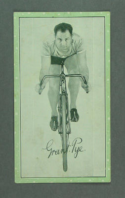 Trade card featuring Grant Pye, c1930s