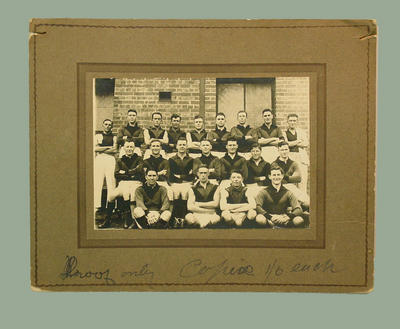 Black and white photograph of Unidentified Football Team c.1920
