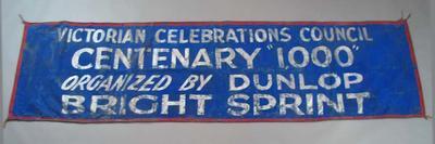 Banner for Centenary 1000 Bright Sprint, c1934