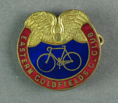Badge - Eastern Goldfields Cycling Club; Trophies and awards; 1993.2895.55