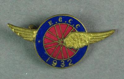 Badge - E.G.C.C. [ Eastern Goldfields Cycling Club] 1932