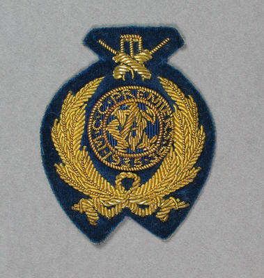 Oval Fabric Pocket Badge - MCC Premiers 1935-36 - owned by Keith E. Rigg