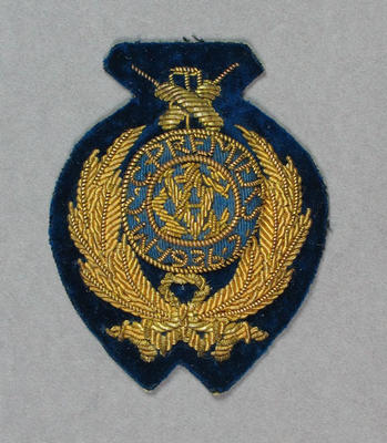 Oval Fabric Pocket Badge - MCC Premiers 1936-37 - owned by Keith E. Rigg