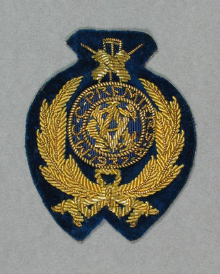 Oval Fabric Pocket Badge - MCC Premiers 1937-38 - owned by Keith E. Rigg