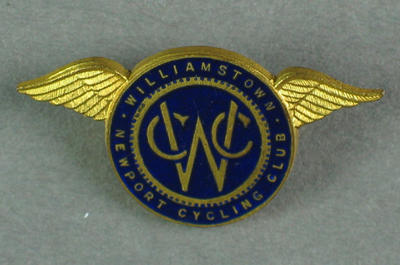 Badge - Williamstown Newport Cycling Club; Trophies and awards; 1993.2895.59