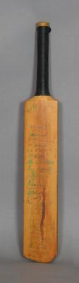 Miniature Cricket Bat inscribed 'K.E. Rigg, November 1930, W.M. Woodfull's XI'