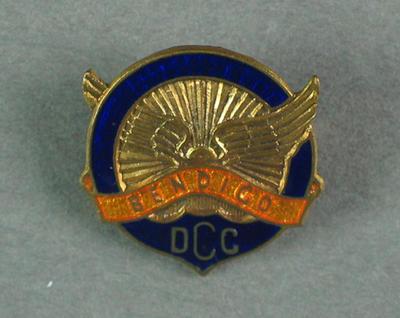 Badge - Bendigo D.C.C. [District Cycling Club]; Trophies and awards; 1993.2895.61