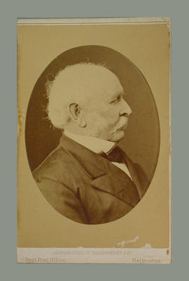 Photograph of William Campbell with name and date 1880 on reverse