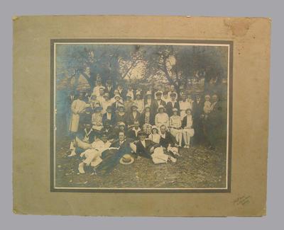 Photograph of a social cricket gathering, Sydney c 1920s