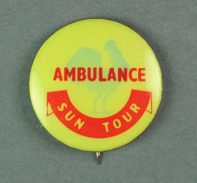 Badge - Sun Tour - Ambulance.  c.1954-55