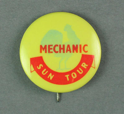 Badge - Sun Tour - Mechanic.  c.1954-55