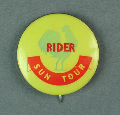 Badge - Sun Tour - Rider.  c.1954-55
