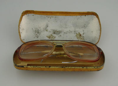 Spectacles with case;  used by cricketer Clive Lloyd