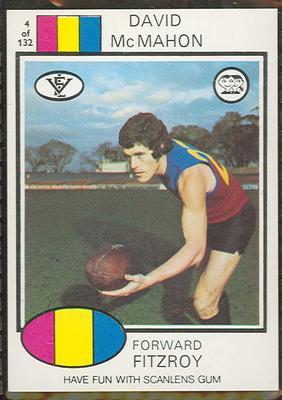 1975 Scanlens VFL Football David McMahon trade card