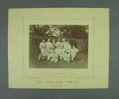 Photograph - All England Twelve, Priory Park, Chichester, September 1876; Photography; M7634